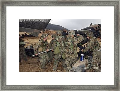 Marines Load A 98-pound High Explosive Framed Print by Stocktrek Images