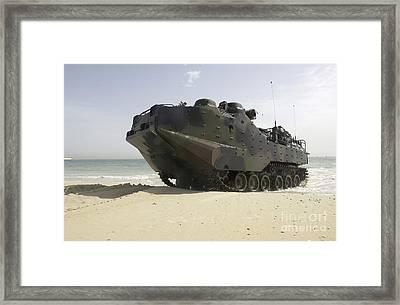 Marines Navigate An Amphibious Assault Framed Print by Stocktrek Images