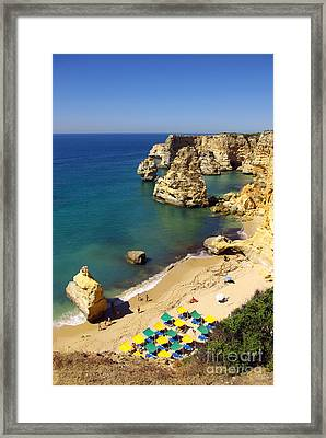 Marinha Beach Framed Print by Carlos Caetano