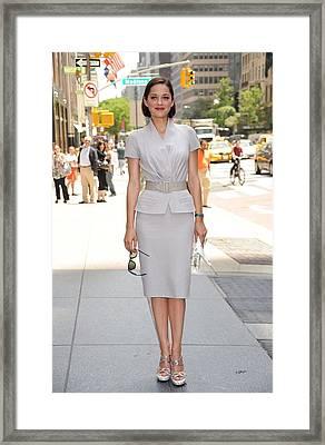 Marion Cotillard Wearing A Dior Suit Framed Print by Everett