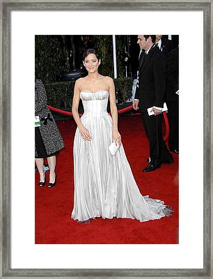 Marion Cotillard Wearing A Nina Ricci Framed Print by Everett