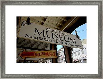 Mark Twian Museum Virginina City Nv Framed Print by LeeAnn McLaneGoetz McLaneGoetzStudioLLCcom