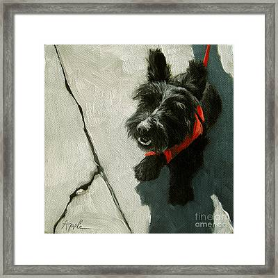 Market Day - Scottie Dog Framed Print by Linda Apple