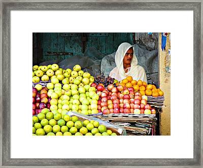 Market Of Djibuti-3 Framed Print by Jenny Senra Pampin