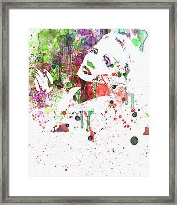 Marlene Dietrich 3 Framed Print by Naxart Studio