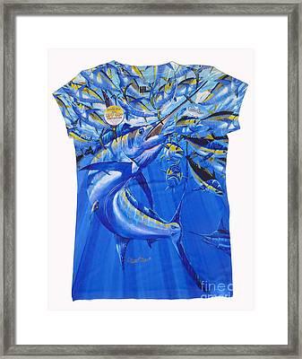 Marlin Ladies Shirt Framed Print by Carey Chen