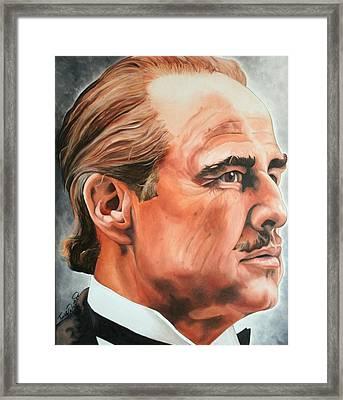 Marlon Brando Framed Print by Timothe Winstead
