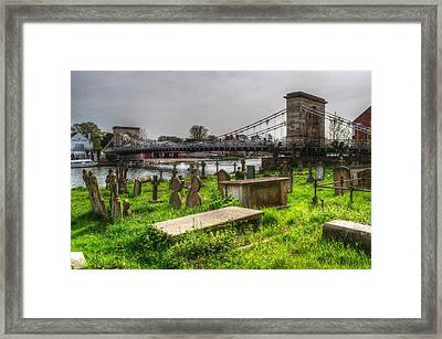 Marlow Bridge From All Saints Graveyard Framed Print by Chris Day