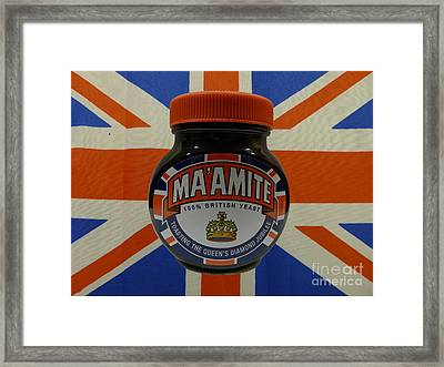 Marmite The Growing Up Spread Framed Print by Richard Reeve