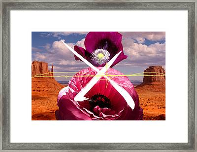 Maroon Desert X Framed Print by Geronimo