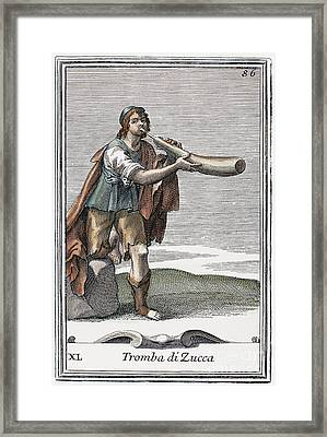 Marrow Trumpet, 1723 Framed Print by Granger