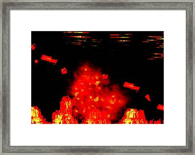 Mars Space Junk Mishap Framed Print by Steamy Raimon
