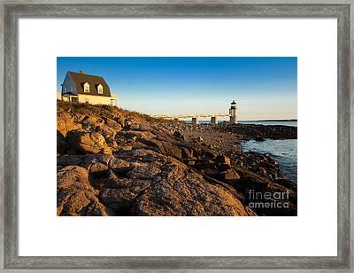 Marshall Point Lighthouse Framed Print by Brian Jannsen