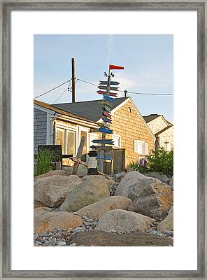 Marshfield Personified Framed Print by Christine Stonebridge