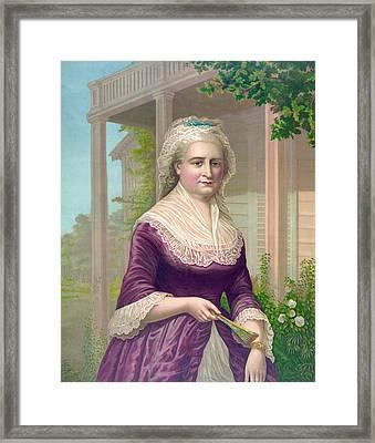 Martha Washington, Colored Lithograph Framed Print by Everett