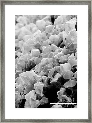 Martian Co2 Crystals Framed Print by National Snow and Ice Data Center