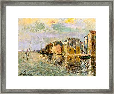 Martigues In The South Of France Framed Print by Gustave Loiseau