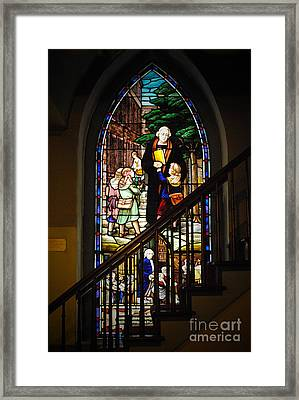 Martin Luther At Historic Zion Framed Print by Jost Houk