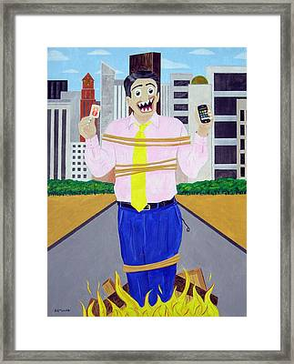 Martyr Framed Print by Sal Marino