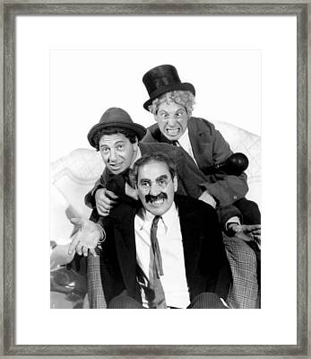 Marx Brothers - Groucho Marx, Chico Framed Print by Everett