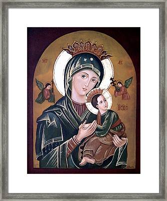 Mary And Jesus Framed Print by Lena Day