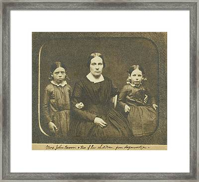 Mary Ann Brown 1817-1884, The Second Framed Print by Everett