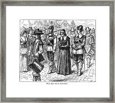 Mary Dyer, D.1660 Framed Print by Granger