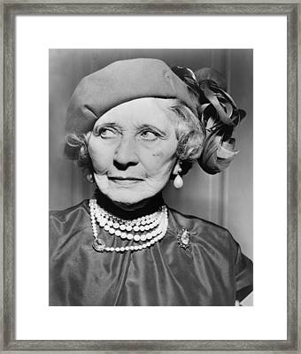 Mary Garden 1874-1967, At The Age Of 80 Framed Print by Everett