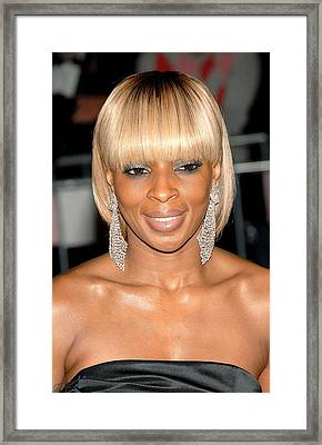 Mary J. Blige At Departures For Annual Framed Print by Everett