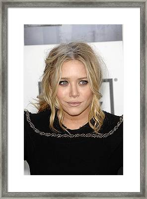 Mary Kate Olsen At Arrivals Framed Print by Everett