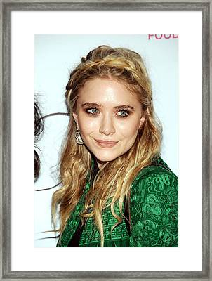 Mary-kate Olsen  At Arrivals For First Framed Print by Everett