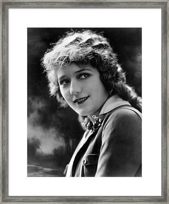 Mary Pickford, Ca. 1920s Framed Print by Everett