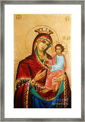 Mary With Jessus R.3 Framed Print by Sorin Apostolescu