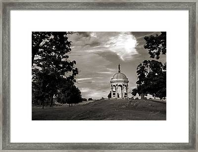 Maryland Monument - Antietam Framed Print by Judi Quelland