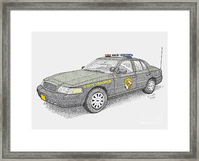 Maryland State Police Car 2012 Framed Print by Calvert Koerber
