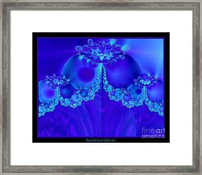 Marys Veil Fractal 60 Framed Print by Rose Santuci-Sofranko