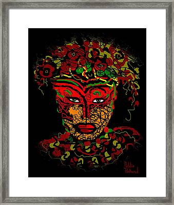 Masked Beauty Framed Print by Natalie Holland