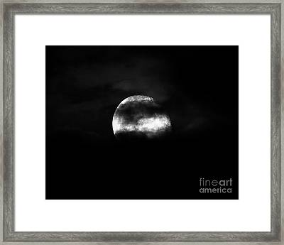 Masked Moon Framed Print by Al Powell Photography USA