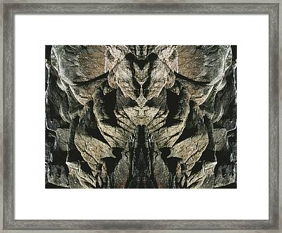 Masked Rock God Of Ogunquit  Framed Print by Nancy Griswold