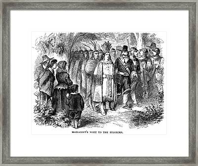 Massasoit (d. 1661) Framed Print by Granger