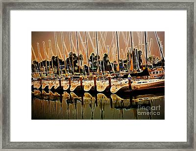 Masts Framed Print by Cheryl Young