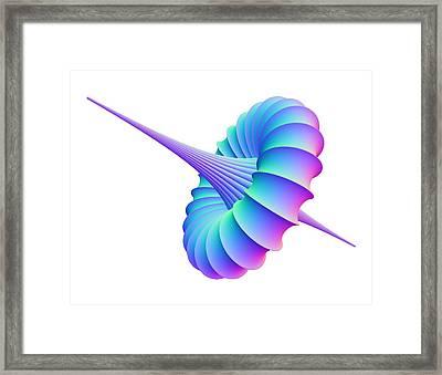 Mathematical Model, Computer Artwork Framed Print by Pasieka