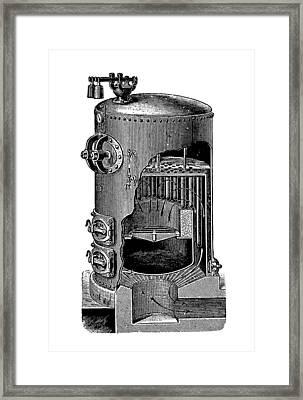 Mathian Steam Boiler Framed Print by Mark Sykes