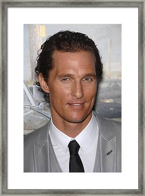 Matthew Mcconaughey At Arrivals For The Framed Print by Everett