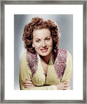 Maureen Ohara, Ca. 1940 Framed Print by Everett