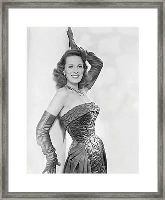 Maureen Ohara, Circa 1954 Framed Print by Everett