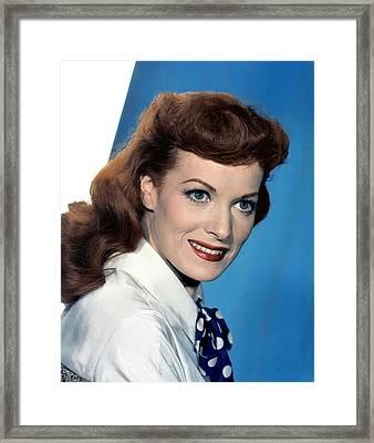 Maureen Ohara Framed Print by Everett