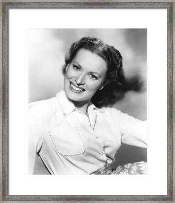 Maureen Ohara, Paramount Pictures, 1950 Framed Print by Everett