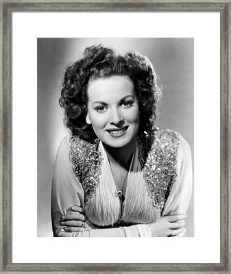 Maureen Ohara, Rko, 1940 Framed Print by Everett