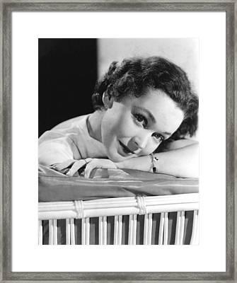Maureen Osullivan, Ca 1950 Framed Print by Everett